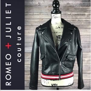 ROMEO AND JULIET COUTURE Black Motorcycle Jacket!